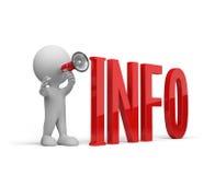 3D人提供信息 免版税库存照片