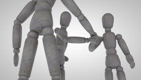 3d人片断的玩偶字符 图库摄影