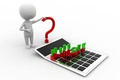 3d人生产力概念 免版税库存照片
