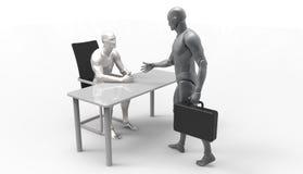 3D人的短跑 免版税库存照片