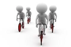3d人自行车比赛概念 免版税图库摄影