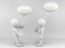 3D人谈话 免版税库存图片
