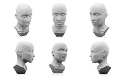 3D人头时装模特 免版税库存照片