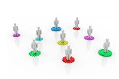 3d企业小组 免版税库存照片