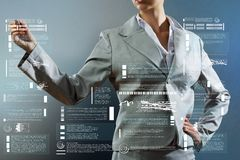 3d企业尺寸介绍回报形状三 库存照片
