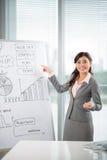 3d企业尺寸介绍回报形状三 免版税库存照片