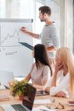 3d企业尺寸介绍回报形状三 免版税库存图片