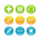 3d企业按钮网象 免版税库存照片