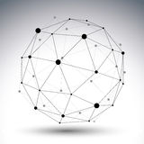 3D传染媒介摘要技术例证 免版税图库摄影
