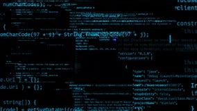 3D位于真正空间的代码抽象块翻译  皇族释放例证