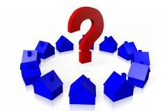 3D住房问题概念 库存图片