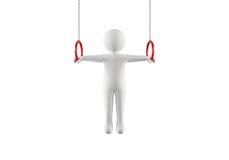 3D体操运动员 免版税图库摄影