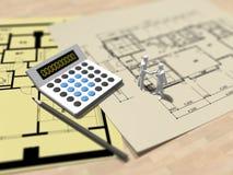 3D体系结构计划的例证 库存例证