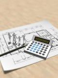 3D体系结构计划的例证 皇族释放例证