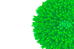 3d作为抽象绿色球形的块 免版税库存照片