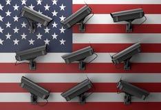 3d例证与监视器的保密性概念 库存图片