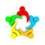 3D例证业务会议 库存图片