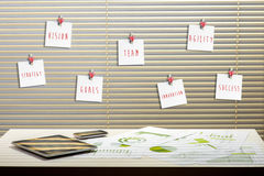 3d例证图象办公室工作场所 免版税库存照片