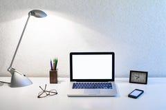 3d例证图象办公室工作场所 图库摄影