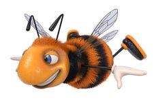 3d例证土蜂滑稽的漫画人物 免版税图库摄影