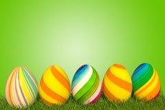 3d例证复活节彩蛋绿色 库存图片