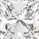 3D例证徒升宏观白色宝石昂贵的金刚石 免版税库存图片