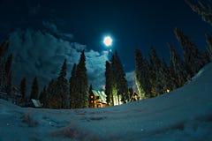3 d例证月亮晚上 库存照片