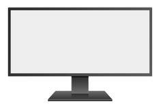 3D例证有黑屏的宽银幕计算机Mornitor 向量例证