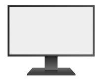 3D例证有黑屏的黑色LED计算机Mornitor 库存例证