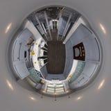 3d例证球状360无缝的厨房全景 免版税库存图片