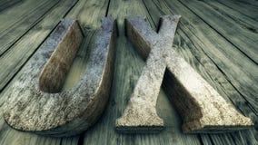 3D例证用户经验, UX 免版税图库摄影