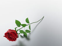 3D例证红色玫瑰 免版税库存图片