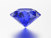 3D例证蓝色鲜绿色圆的金刚石青玉宝石机智 免版税库存照片