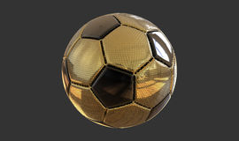 3D例证金黄足球 库存照片