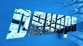 3D例证:发展&操作 免版税图库摄影