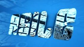 3D例证:敏捷的词 免版税库存图片