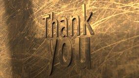 3D例证:词感谢您 库存照片