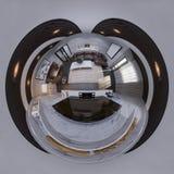 3d例证360球状无缝的客厅全景 免版税库存照片