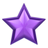 3D例证紫色星 免版税库存图片