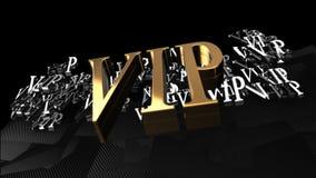 3D例证VIP文本3D黑色背景 免版税库存图片