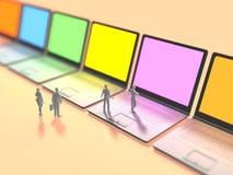3D信息终端的例证 向量例证