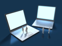 3D信息终端的例证 库存例证