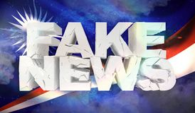 3D假新闻概念的例证与马绍尔群岛的背景旗子的 向量例证