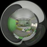 3d儿童` s室例证室内设计  免版税库存图片