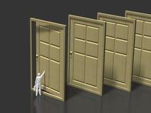 3D入口的例证 向量例证