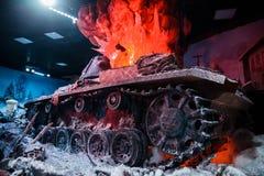"""3D全景叫""""Moscow 1941年 在""""Russia,我的History†历史公园的Counteroffensive† 免版税库存照片"""