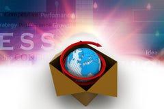3d全球企业商务概念 库存图片