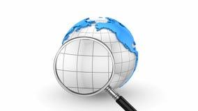 3d全球图象查出的白色 股票录像