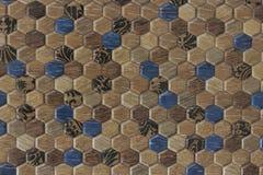 3d六角形样式瓦片纹理背景 库存照片