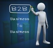 3d写b2b的人 免版税图库摄影